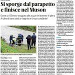 Maltempo: scivola nel fiume. Salvato da un bagnino e cinque carabinieri