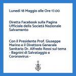 Lunedì 18 Maggio ore 17: in diretta facebook il Presidente e il Direttore Sanitario SNS