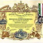 Medaglia di Benemerenza all'Istruttore Pasquale Mininno