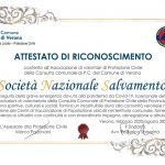 Il Comune di Verona conferisce l'Attestato di Riconoscimento alla SNS